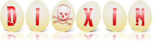 Egg Dioxin Six Royalty Free Stock Image