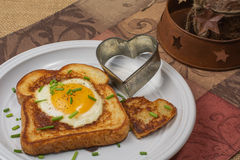Egg dipping toast Stock Images