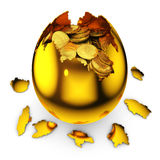 Egg with dollar coins Stock Photo