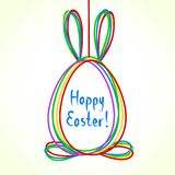 Egg doodle background. Happy Ester greeting card. Cute hand draw stock illustration