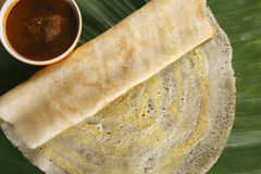 Egg Dosa is a thin crisp pancake from India Royalty Free Stock Photo