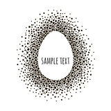 Egg dotted frame with space for text. Black and white vector abstract background. Stock Photo