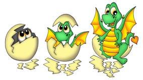 Egg and dragon royalty free stock photo