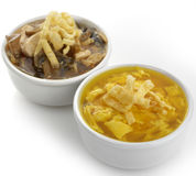 Egg Drop And Hot and Sour Soups Royalty Free Stock Photography