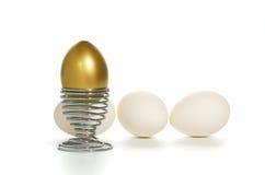 Egg e ovo batido Fotografia de Stock Royalty Free