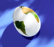 Egg earth. Egg with earth map on it royalty free illustration