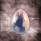 Egg with earth texture over grunge background Royalty Free Stock Photos