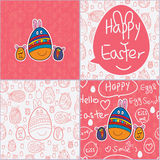 Egg Easter cute card seamless pattern Royalty Free Stock Images
