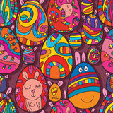 Egg Easter cute drawing seamless pattern Royalty Free Stock Image