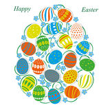 Egg of Easter eggs Royalty Free Stock Images