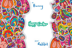 Egg Easter sticker horizontal page template Royalty Free Stock Images