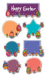 Egg Easter sticker set Royalty Free Stock Images