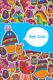 Egg Easter sticker vertical page Royalty Free Stock Photo