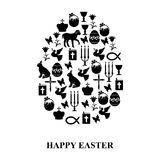 Egg of Easter symbols Royalty Free Stock Images