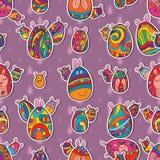 Egg Easter symmetry seamless pattern Stock Photos