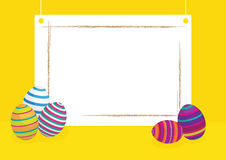 Egg easter. And yellow color paper Stock Photo