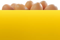Egg easter. And yellow color paper board banner Royalty Free Stock Image