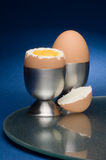 Egg and egg cup Stock Images