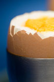 Egg and egg cup Stock Photo