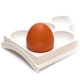 Egg in egg cup Stock Photos