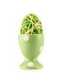 Egg in a egg holder isolated Royalty Free Stock Images