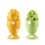 Egg in a egg holder isolated Stock Photography