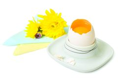 An egg in eggcup Stock Image