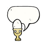 Egg in eggcup cartoon character Royalty Free Stock Photos