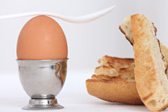 Egg in an eggcup Stock Photo