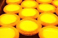 Egg el vino rojo de tarts Imagen de archivo
