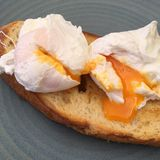 Egg en tostada Imagen de archivo libre de regalías