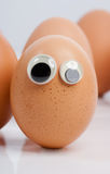 Egg eyes Royalty Free Stock Photography