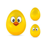 Egg with eyes Stock Images