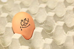 Egg with face Royalty Free Stock Image