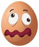 An egg with a face Royalty Free Stock Photos