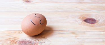 Egg and face Stock Photos
