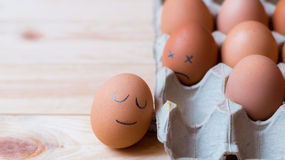 Egg and face Royalty Free Stock Photography