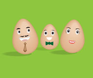 Egg Family Stock Photography