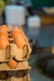 Egg fazendo um alimento tradicional indiano feito da farinha Fotografia de Stock Royalty Free