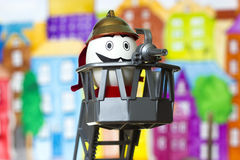 Egg_firefighter Stock Images