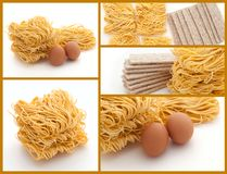 Egg flavor noodles and eggs Royalty Free Stock Photography