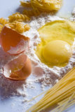 Egg and flour Royalty Free Stock Photography