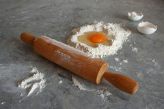 Egg and flour Royalty Free Stock Images