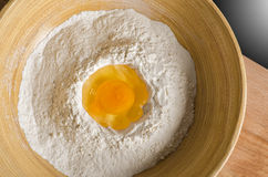 Egg and flour Royalty Free Stock Photo