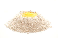 Egg and flour Stock Photography