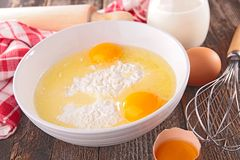 Egg,flour and ingredient Royalty Free Stock Photo