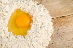 Egg and flour Stock Image