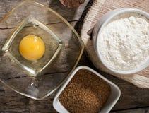 Egg flour sugar Stock Photo