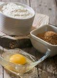 Egg flour sugar Stock Images