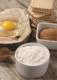 Egg flour sugar Stock Image